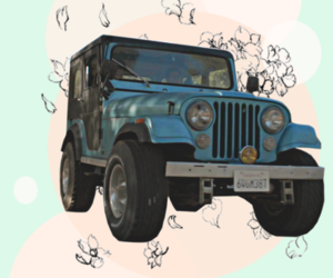 blue, jeep, and roscoe image