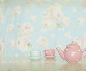 pastel, cup, and floral image