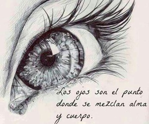 eyes, dibujo, and black and white image