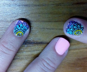 mandala, nail, and nail art image