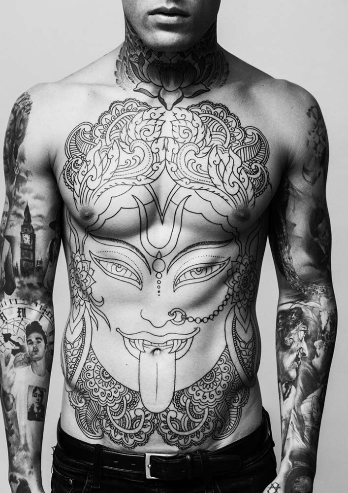 tattoo, body, and Hot image