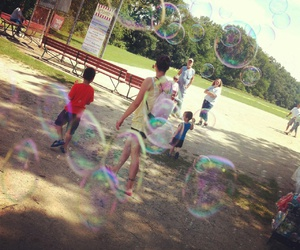 bubbles, childhood, and fun image