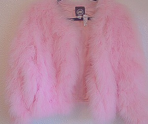 fur, pink, and jacket image