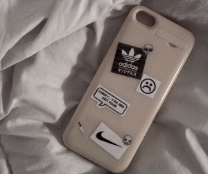 adidas, iphone, and bed image