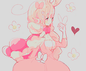 kawaii, anime, and bunny image