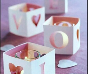 love, candle, and pink image