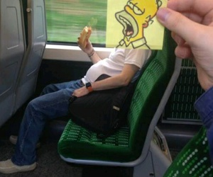 funny, homer, and simpsons image