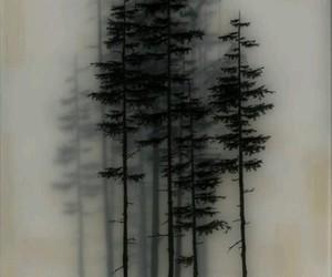 tree, art, and black image