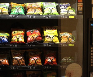 chips, header, and vending machine image