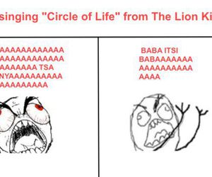 lion king, funny, and lion image