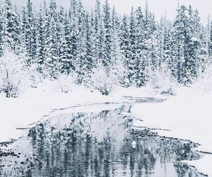 cold, ice, and river image