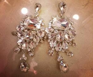 diamonds, earings, and expensive image