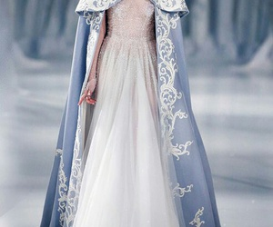 dress, winter, and blue image
