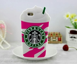 pink, starbucks, and handycase image