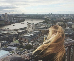 blonde, building, and london image