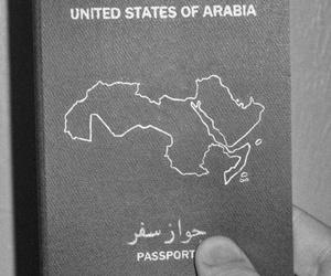 passport, عربي, and arabic image