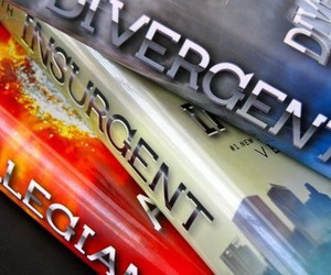 books, divergent, and insurgent image