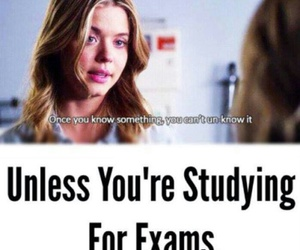 exam, pretty little liars, and pll image