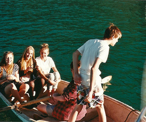 boat, water, and friends image