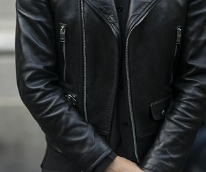 black, leather, and boy image
