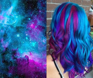 hair and galaxy image