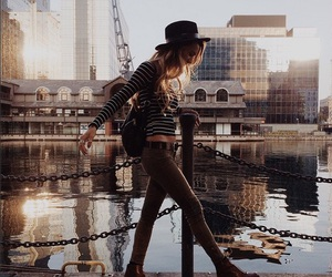 casual, girl, and city image