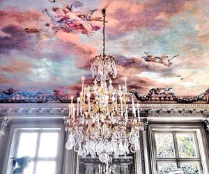 art, chandelier, and architecture image