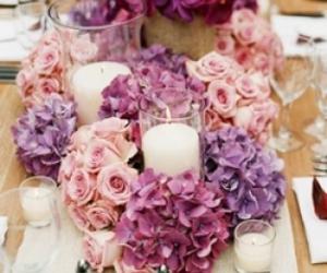 flowers, wedding, and purple image