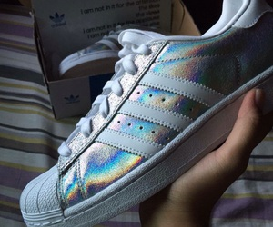 adidas, holographic, and superstar image