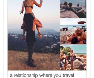 couple, goals, and travelling image