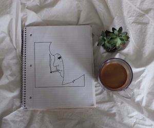 grunge, plants, and drawing image