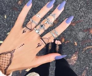 nails, rings, and fashion image