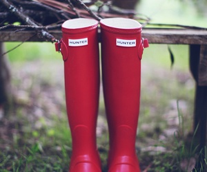 hunter, red, and boots image