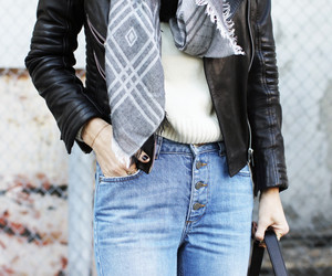 fashion, inspiration, and leather jacket image