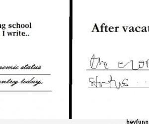 school, funny, and vacation image