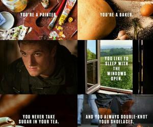 peeta, the hunger games, and mockingjay image