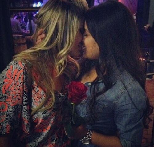 kiss, lesbian, and love image