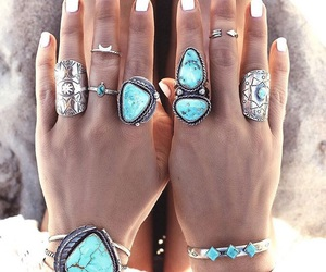 accessories, rings, and blue image