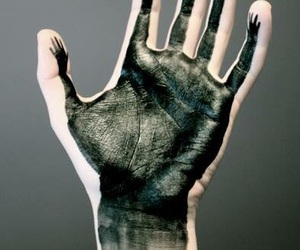 'hands', 'art', and 'black' image