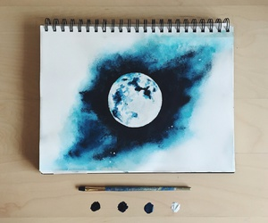 draw, lovely, and moon image