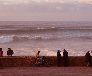 beach, evening, and morocco image