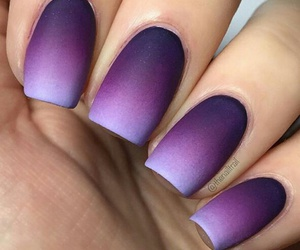 nails, purple, and ombre image