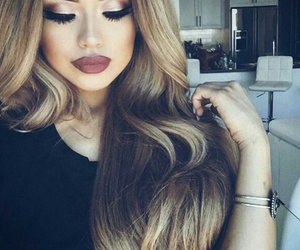 fashion, hair, and lips image