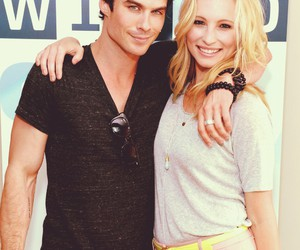 ian somerhalder, candice accola, and tvd image