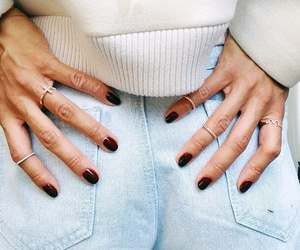 denim, nails, and style image
