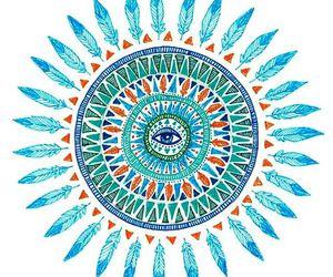 mandala and blue image