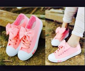 pink, bow, and shoes image