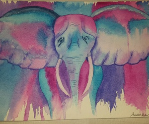 colors, drawing, and elephant image