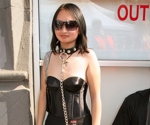 collar, leather, and leashed image