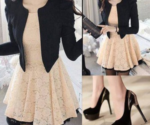 dress, outfit, and heels image